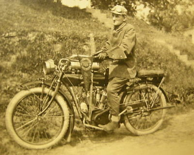 West Virginia. Antique INDIAN MOTORCYCLE. RPPC. c.1915 Real Photo Postcard. RARE