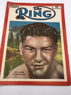 The Ring Vintage Boxing Magazine 1951 May Rex Layne Kid From Utah