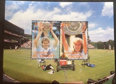 Grenadine St Vincent 1988 Minisheet Tennis champion