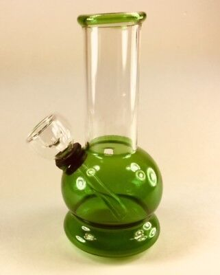 Hookah Water Pipe Glass Bong 5 Inch Rasta Smoking Pipe w/ Carb Hole Assorted
