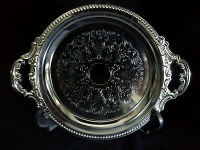 Small Vintage Plated Serving Tray