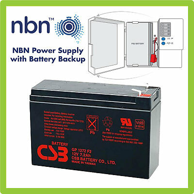 NBN BATTERY BACKUP GP1272 F2 12V 7.0-7.2Ah 6 Cell VRLA Sealed Lead Acid Battery