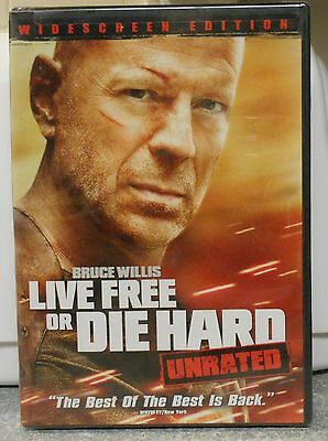 Die Hard 4: Live Free or Die Hard (DVD, 2007 Unrated) RARE ACTION BRAND NEW