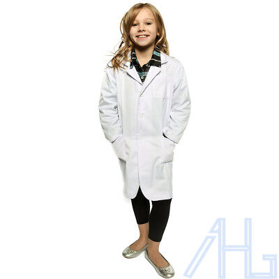 UK Kids Lab Coat Science Boys Girls Childrens School Doctors Scientist Age 5-14