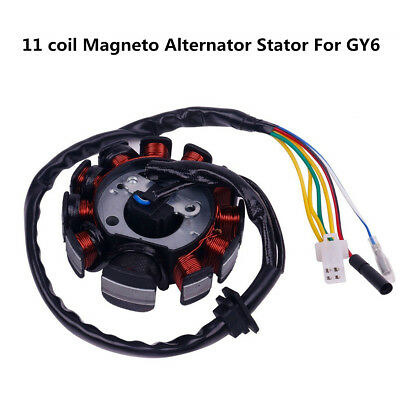 125cc 150cc 11 coil Magneto Alternator Stator For GY6 Scooter ATV 152QMI 157QMJ