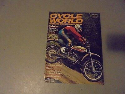 Se[Tember 1975 Cycle World,can-Am125 Mx2,triumph 750 Triple,suzuki Rm125,louisvi