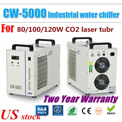 CW-5000DG s&a Industrial Water Chiller for 120W / 100W / 80W CO2 Laser Tube-US