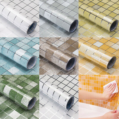 Self adhesive Wallpaper Bathroom Waterproof Scrub Mosaic Wall Tile Sticker