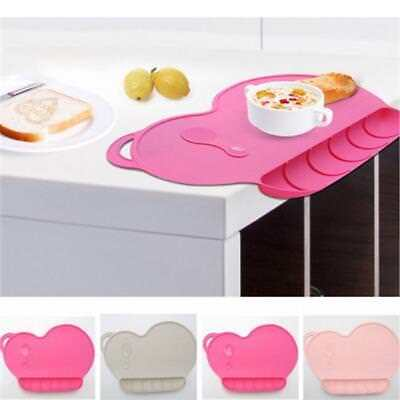 Baby Silicone Plate Sucker Non-slip Placemat Waterproof Snack Mat Food Tray N7