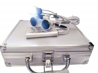 3.5X-420mm Surgical Binocular Loupes Magnifier with LED Head Light Aluminum Box