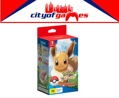 Pokemon Lets Go! Eevee with Pokeball Plus Bundle Nintendo Switch New In Stock
