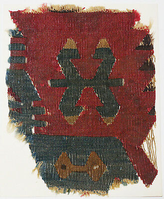 14-15C Antique Textile Fragment - Carpet, Dyeing and Weaving, Kilims, Loop Weave