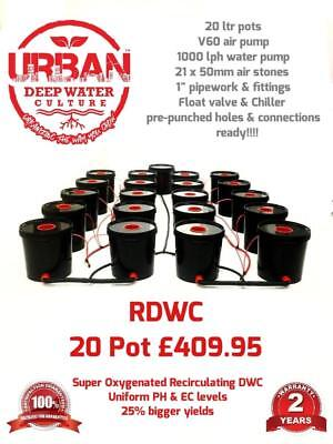20 Pot 20L Urban Deep Water Culture RDWC Hydroponic System Not Alien IWS RUSH