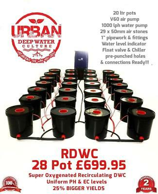 28 Pot 20L System 4 Lane & Flexi For Grow Size 3.5x 2m Autopot DWC RDWC IWS TENT