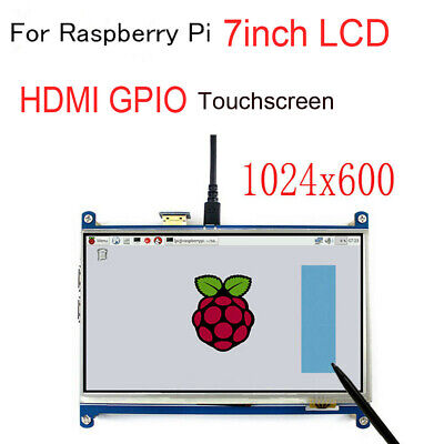 For Raspberry Pi 2 3 B+ LCD 7inch Touch Screen Module 1024*600 TFT Display HDMI