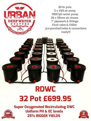 32 Pot 20L Hydroponic System (4Lane) For Grow Size 4 x 2m Autopot DWC R Roots
