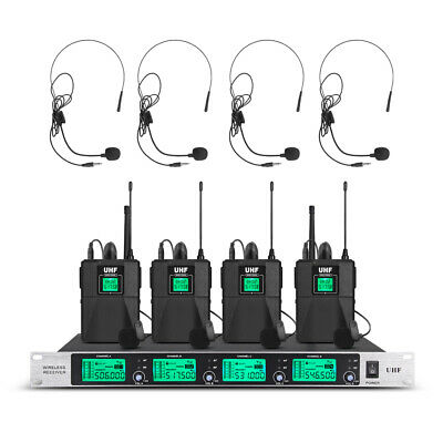 Pro Audio UHF Wireless Microphone System 2 Channel Handheld Mic Karaoke Dynamic