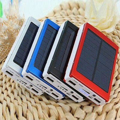 30000MHA Portable Pack Dual USB Outdoor Solar Power Bank Charger For Mobile