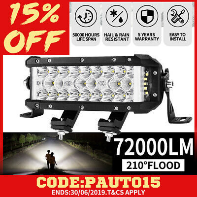 7inch Philips LED Light Bar Spot Flood Offroad Driving Work 4x4 Truck  SUV Boat