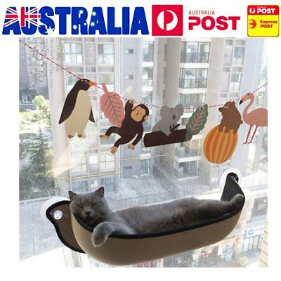 Cat Window Bed Hammock Removable Seat  Mounted Pad Hanging Cushion 68.6X28cm M+