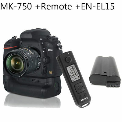 Meike MK-DR750 MB-D16 2.4G Wireless control Battery grip for Nikon D750 +EN-EL15