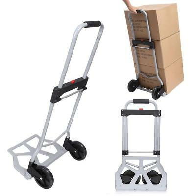 150-220lbs Trolley Dolly Folding Foldable Moving Warehouse Push Hand Truck
