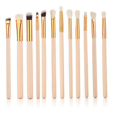12pcs Professional Eye Brush Make up Brushes Set Eyeshadow Eyebrow Blending
