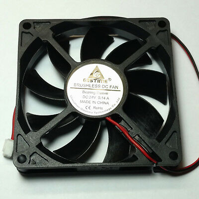 Cooling Fan 80mm x 80mm x 15mm 24V 0.14A 2 pin LYF - Aussie Seller