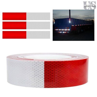 """2""""x150' Dot-C2 Reflective Conspicuity Tape Safety Trailer Truck 6""""Red/6"""" White Y"""