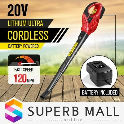 Cordless Leaf Blower Battery Powered Commercial Garden Yard Outdoor Cleaner Tool