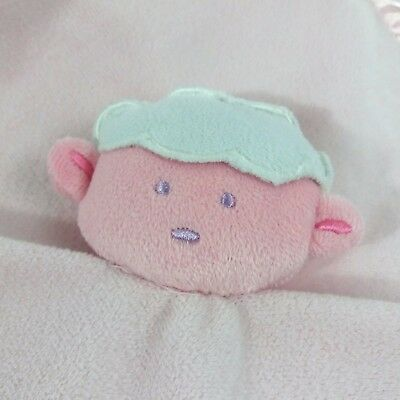 Sweet Pink Baby Essentials Lovey Security Blanket Rattle w Satin Back