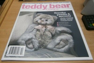 Teddy Bear Times magazine Oct/Nov 2018 Charlie Bears' latest collection &Pattern