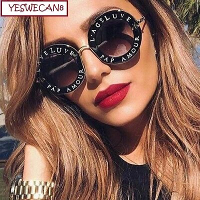 90079e066ca10 Amazing women Sunglasses L aveugle Par Amour Sunglasses Shade Round  Sunglasses