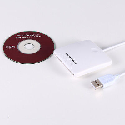 USB Contact Smart Chip Card IC Cards Reader Writer With SIM Slot QR