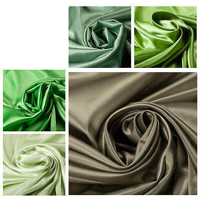100% Silk Satin Green Luxury Quality Fabric Dress Bridesmaid Wedding Crafts