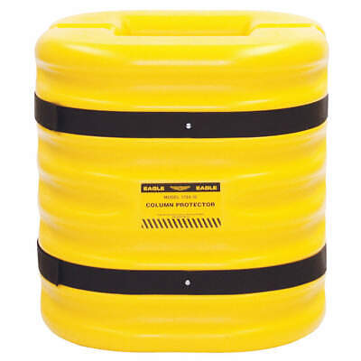 GRAINGER APPROVED Column Protectr,Fits 10 in.,HDPE,Yllw, 1724-10, Yellow