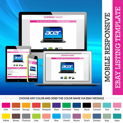 Auction eBay Template Design in Professional HTML Premium HTTPS Secured Theme -