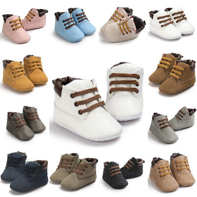 Newborn Baby Boys Girls Soft Sole Crib Shoes Anti-slip Sneakers Warm Boots 0-18M