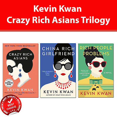 Crazy Rich Asians trilogy Kevin Kwan 3 books collection set pack A Novel NEW