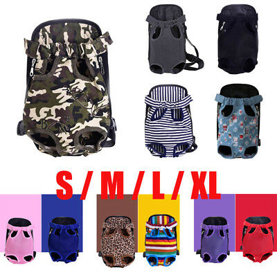 Pet Dog Legs Out Carrier Pet Backpack Adjustable Stylish Chest f/ Outdoor Travel
