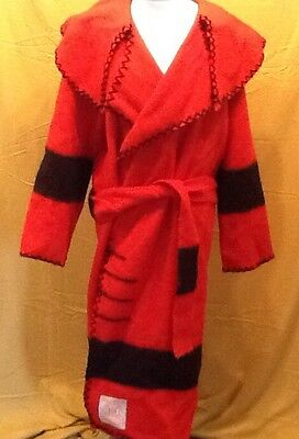 Hudson Bay Capote in Red With Black Stripes
