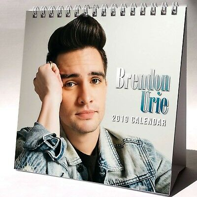 Brendon Urie Desktop Calendar 2019 NEW + GIFT 3 Stickers Panic! At the Disco