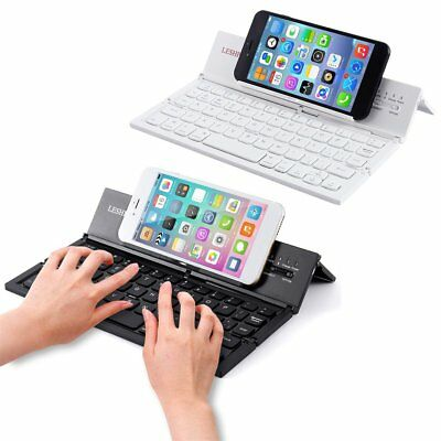 Portable Foldable Folding Wireless Mini Bluetooth Keyboard For iPhone PC Tablet#