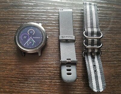 Garmin vivoactive 3 GPS Fitness Smartwatch (Slate/Gunmetal) - near new condition