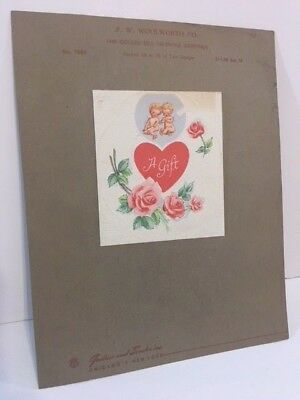 Twin CUPID Vintage Valentine's Day Card Rare Salesman's Sample Woolworth Co 1948