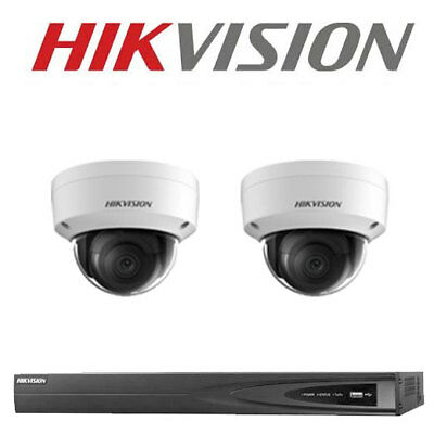 6MP 4CH Hikvision CCTV Kit: 2 x IP Dome Cameras + 4CH NVR