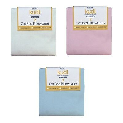 Kids Soft Multi Pack Pillowcases, 100% Cotton, White, Blue or Pink