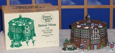 Dept 56 Dickens Village The Old Globe Theater #58501 Orig Box Complete Working!