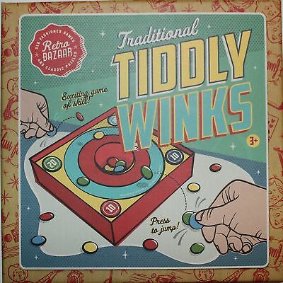 New Tiddly Winks Board Game Traditional Retro Family Fun Indoor Gift Set Xmas