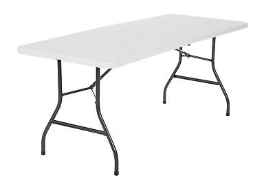 Cosco Office Centerfold Folding Table WHITE 6 Foot Portable Plastic Home Party